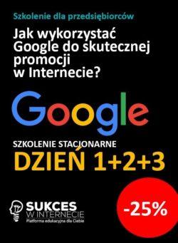 Szkolenie Google 3 dniowe