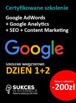 Szkolenie Google Ads + Analytics + SEO