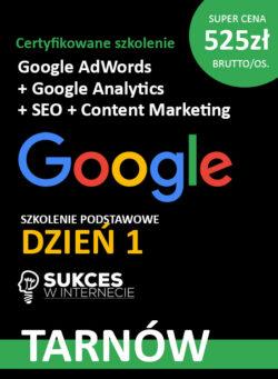 Szkolenie podstawowe Google Ads i Analytics + SEO w Tarnowie