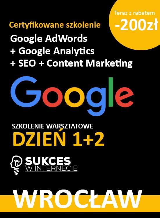 Szkolenie Google Ads i Analytics Wrocław