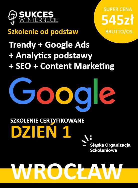 Szkolenie Google Ads Google Analytics od podstaw Wrocław