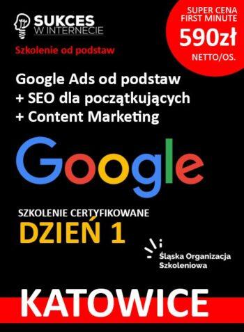 Szkolenie Google Ads i SEO dla początkujących Katowice