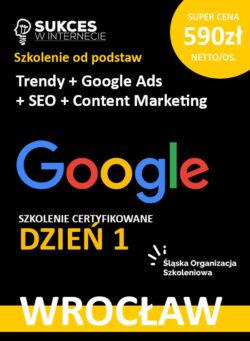 Szkolenie Google Ads i SEO dla początkujących Wrocław